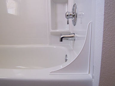 4TT-W Tidee Tubb Bath Tub Splash Guard 9-1/4 Inch Length x 11 Inch