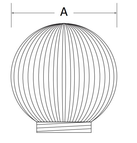 3262-51630 Polymer Products Party Light Globe Use With Polymer