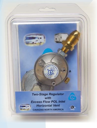 52A4900022 Cavagna Group Propane Regulator With Shutoff Valve
