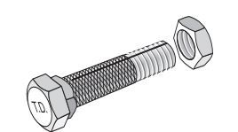 59135 Tie Down Bolt For Use With Tension Head Anchor