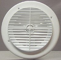 6840WH D&W Inc. Heating/ Cooling Register Round