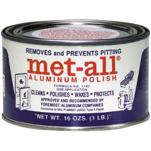 TC10 MET-ALL RV CLEANERS Metal Polish, Aluminum & Stainless Steel, 1