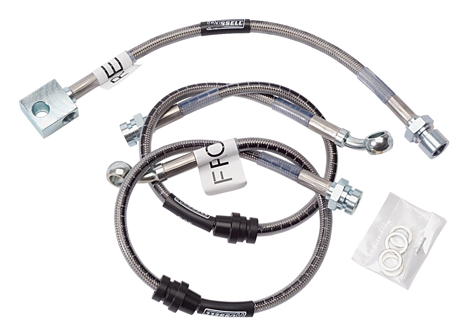 Russell 672340 Brake Lines Street Legal Braided Stainless Chevy GMC Pickup SUV