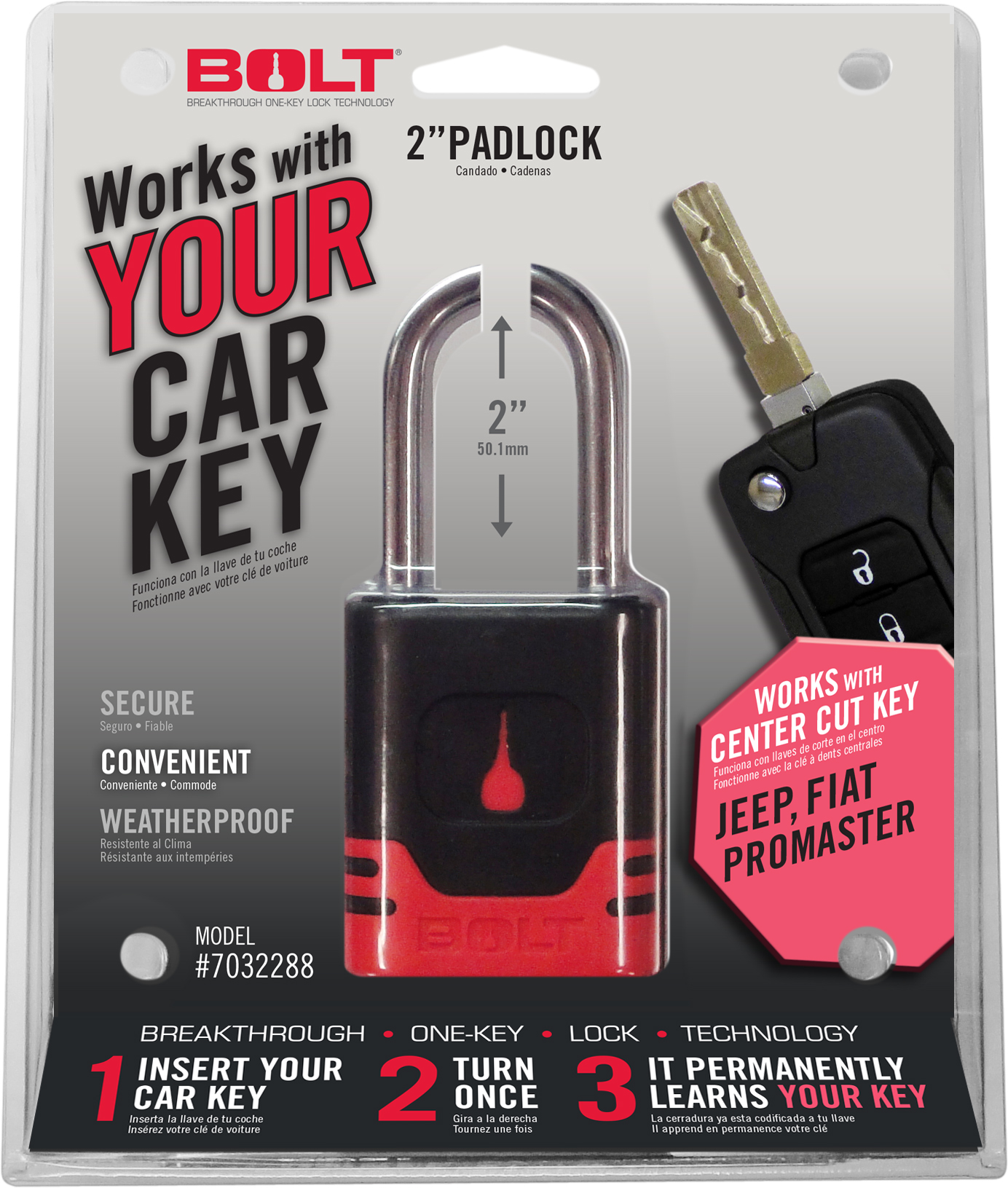 7032288 BOLT Locks/ Strattec Security Padlock Key Type - Uses