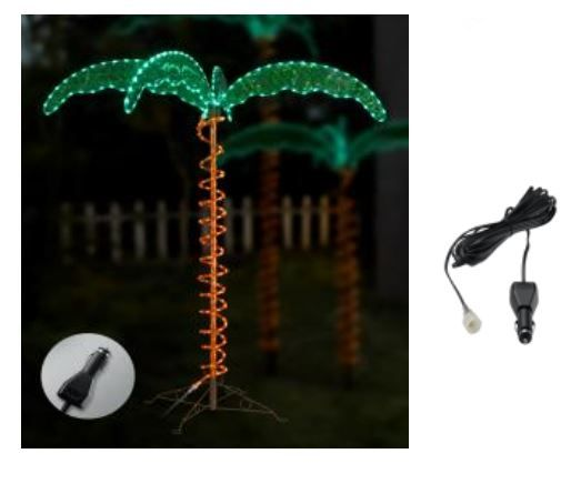 7070103 Ming's Mark Party Lights 4-1/2 Foot Palm Tree With Green