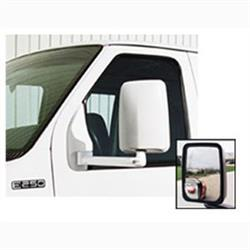 714558 Velvac Exterior Mirror; Right Side; Black; Manual Flat Glass; Foldaway; Non-Heated Mirror; Single