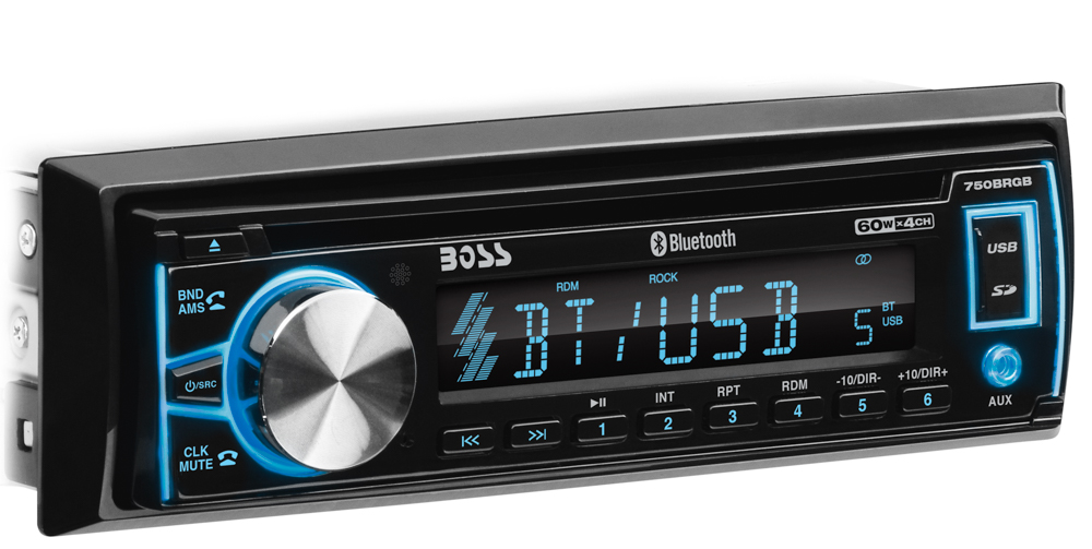 750BRGB Boss Audio Radio 12 AM/ 18 FM Single DIN With Wireless Remote