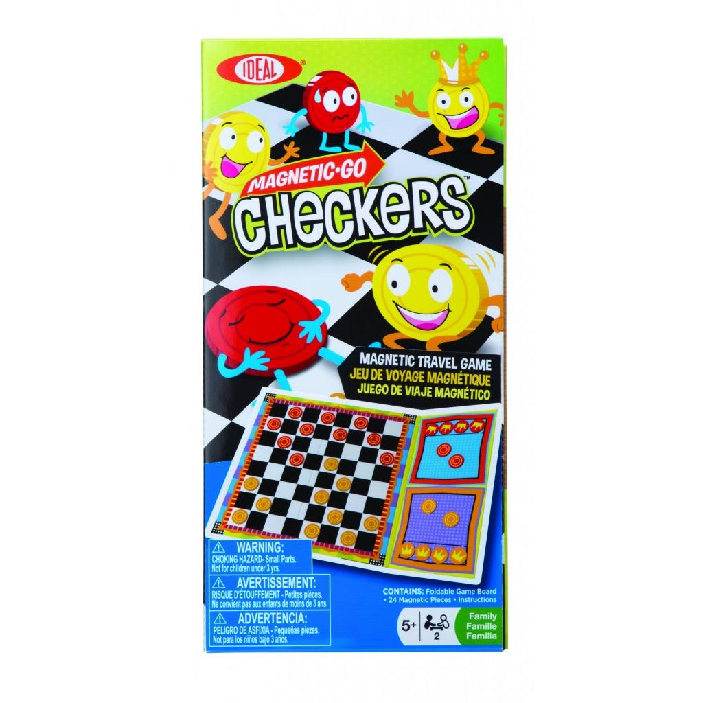 8-32505TL Poof Slinky Board Game Magnetic-Go Checkers Game