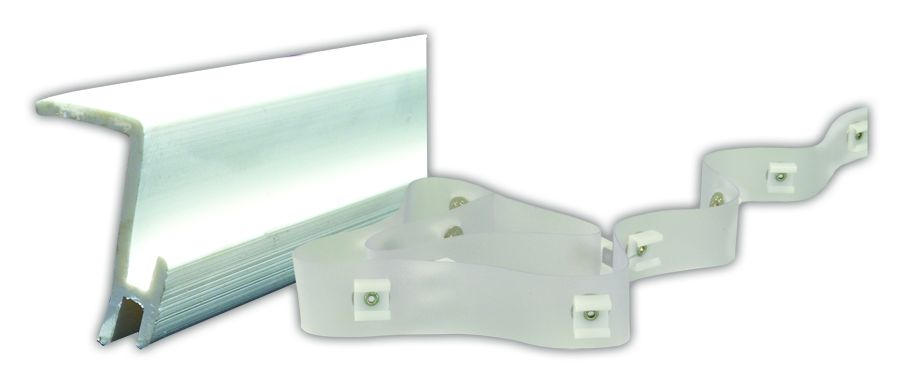80385 JR Products Window Curtain Track Type D Ceiling Mounted