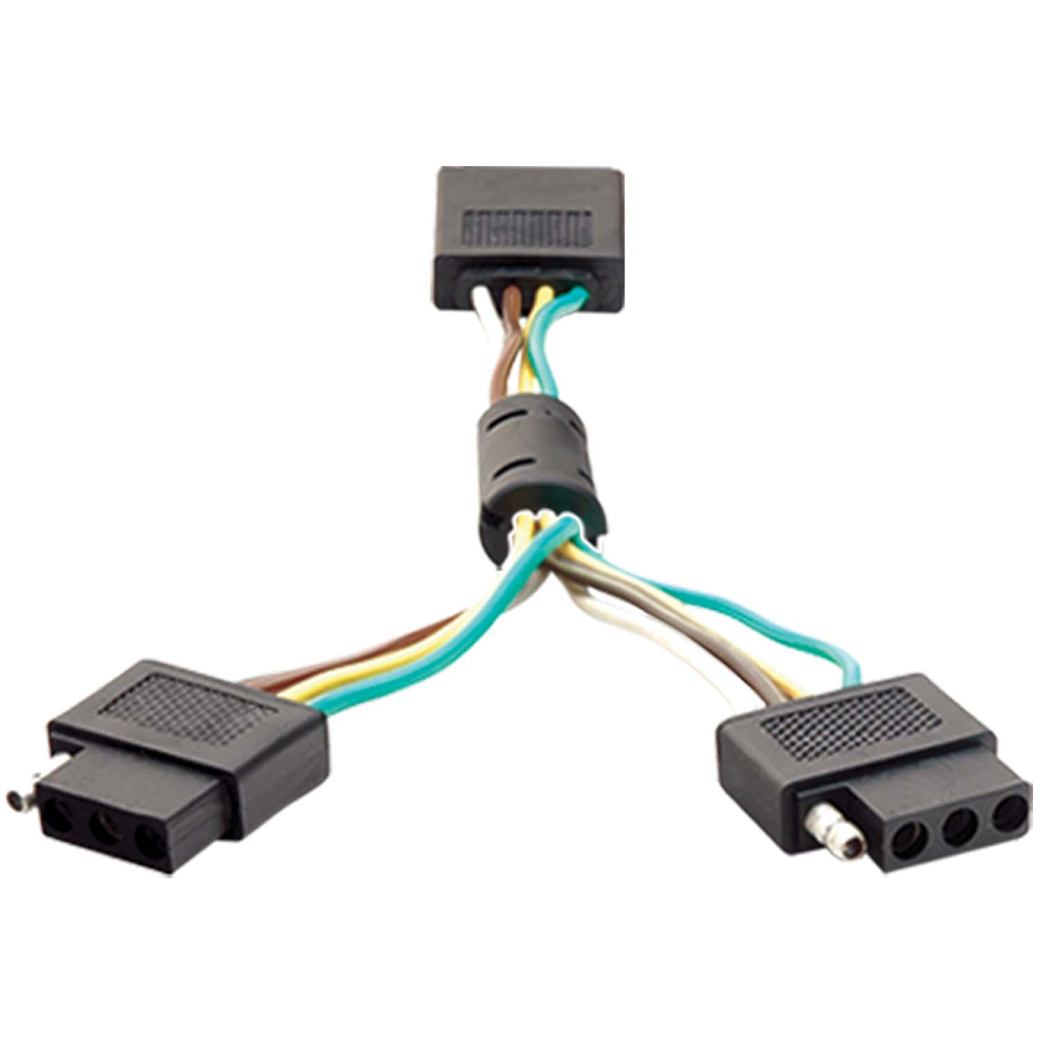 851009 Anzo Trailer Wiring Connector Adapter Dual 4 Wire Flat