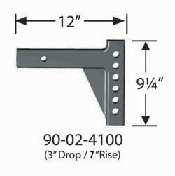 90-02-4100 Equal-i-zer Weight Distribution Hitch Shank 12 Inch Shank