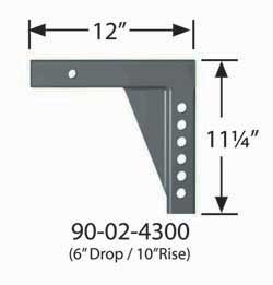 90-02-4300 Equal-i-zer Weight Distribution Hitch Shank 12 Inch Shank