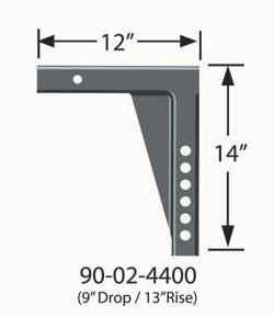 90-02-4400 Equal-i-zer Weight Distribution Hitch Shank 12 Inch Shank