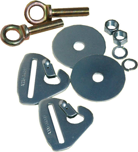 9250A RCI (Racer's Choice Inc) Seat Belt Mounting Kit Fits Floor