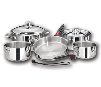 A10-360L-IND Magma Products Cookware Set Stainless Steel