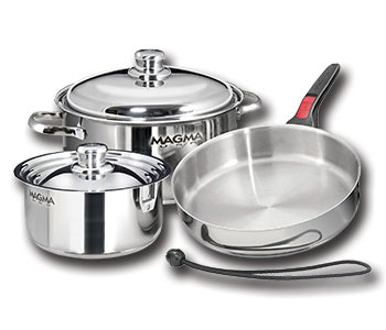 A10-362-IND Magma Products Cookware Set For Gas/ Electric/ Ceramic/