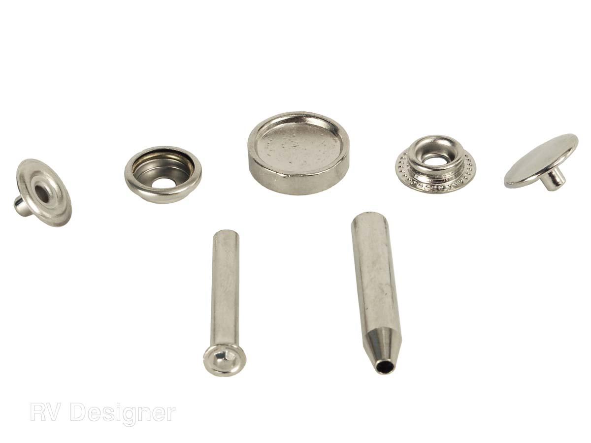 A306 RV Designer Snap Fastener Installation Kit With 6 Complete