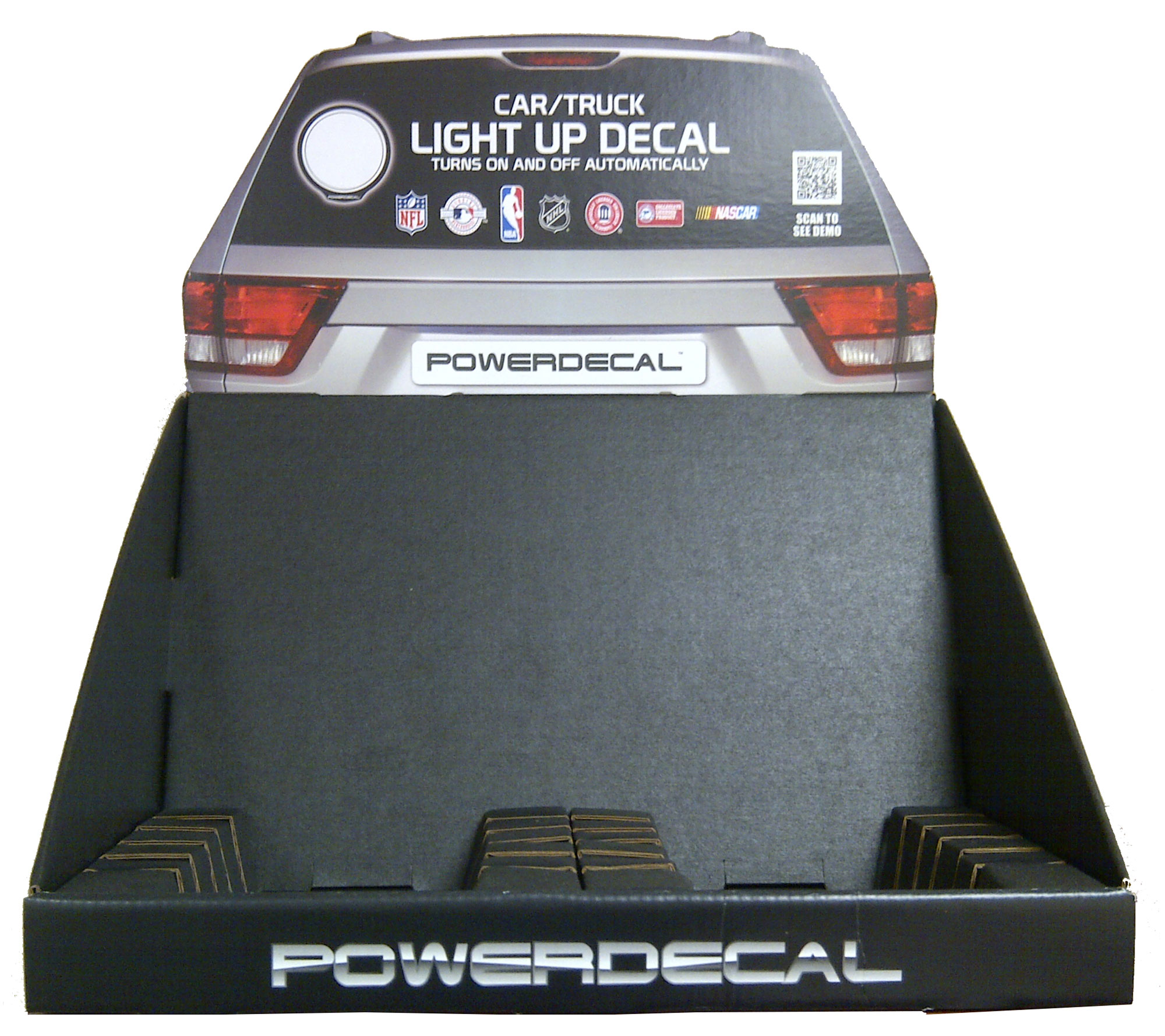 PWRDISPLAY PowerDecal Point of Purchase Display Car/ Truck Light Up