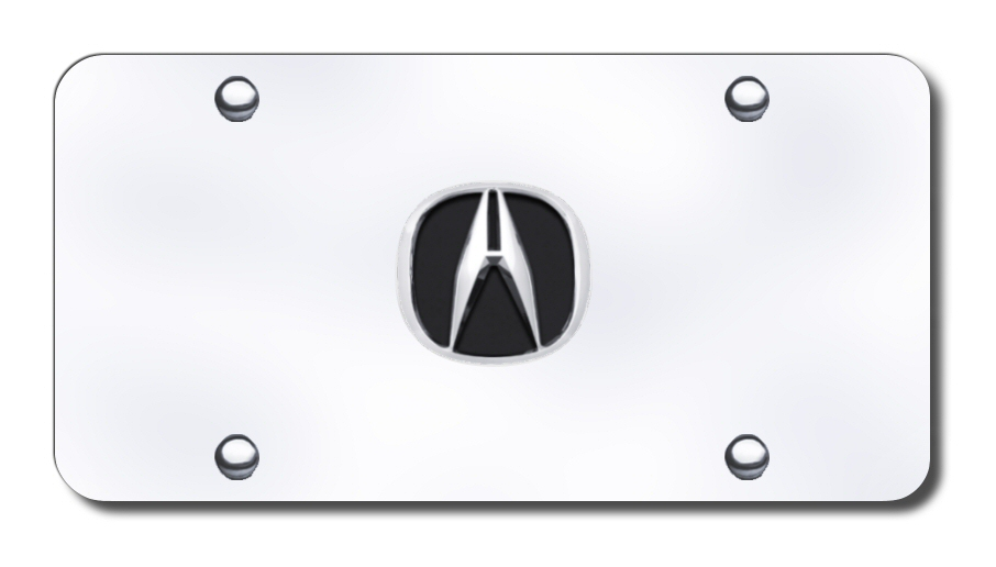 ACU.CC Automotive Gold License Plate Chrome Acura Logo