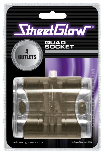 ANQLA StreetGlow Cigarette Lighter Adapter Converts Vehicle Cigarette