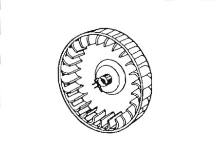 350110 Suburban Mfg Furnace Combustion Wheel For Use With Suburban