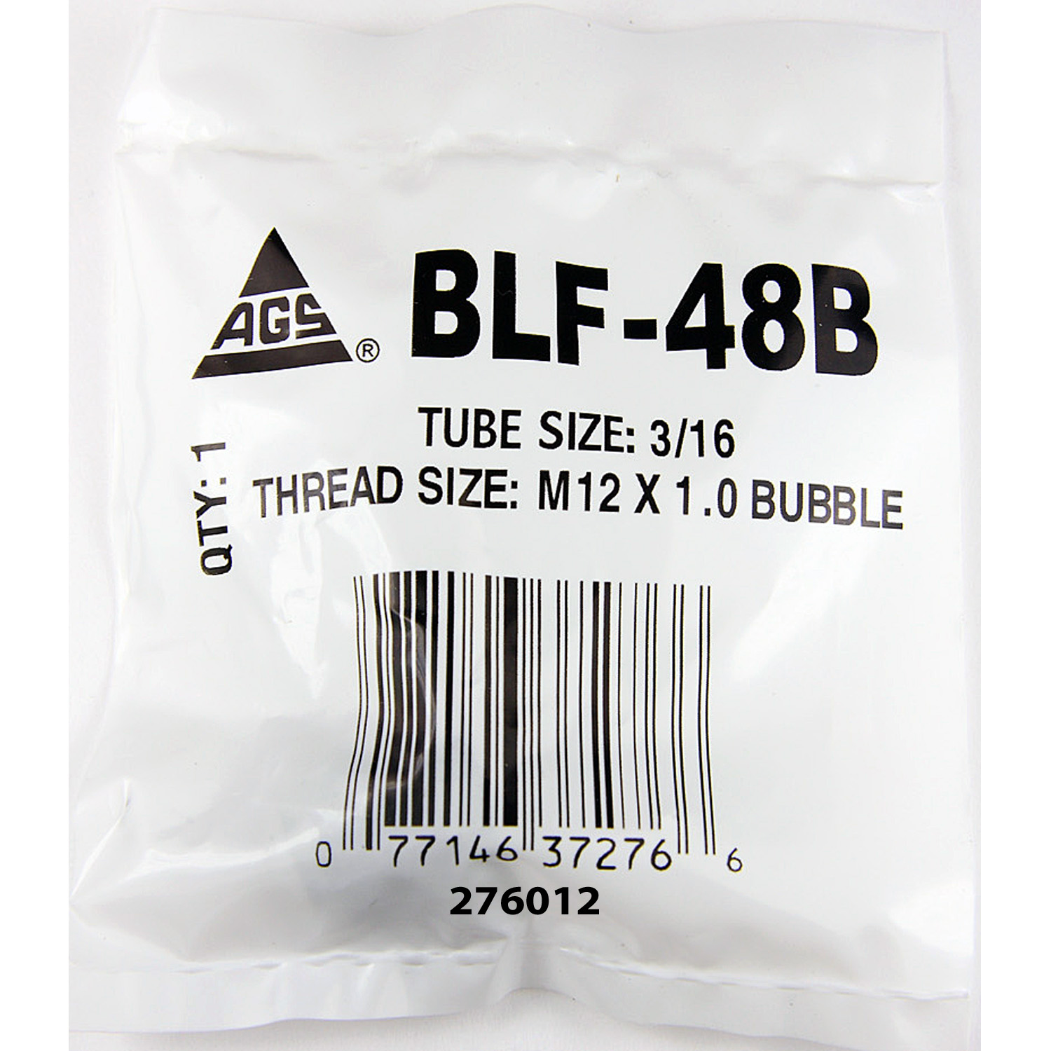 BLF-48B AGS Tube End Fitting Nut 3/16 Inch Import Tube Size