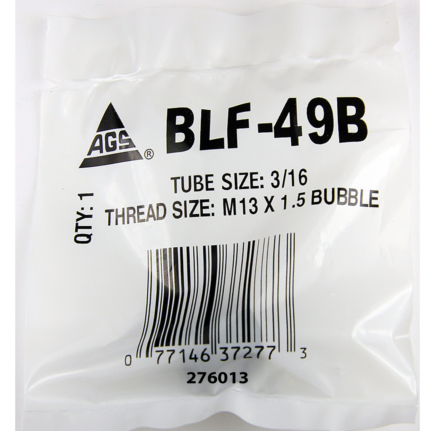 BLF-49B AGS Tube End Fitting Nut 3/16 Inch Tube Size M13 x 1.5 Bubble