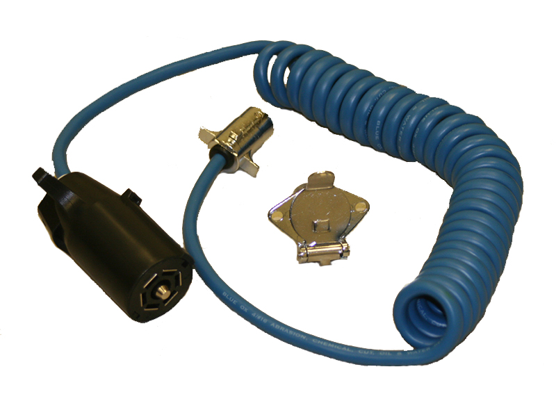 BX88254 Blue Ox Trailer Wiring Connector Adapter 7 Way RV Blade to 4
