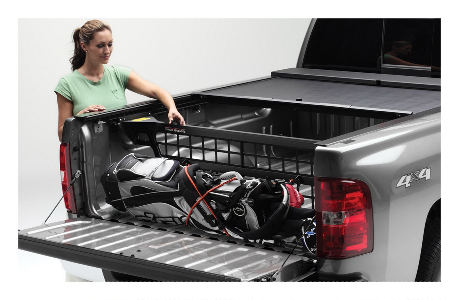 CM222 Roll-N-Lock Bed Cargo Divider Works With Roll N Lock