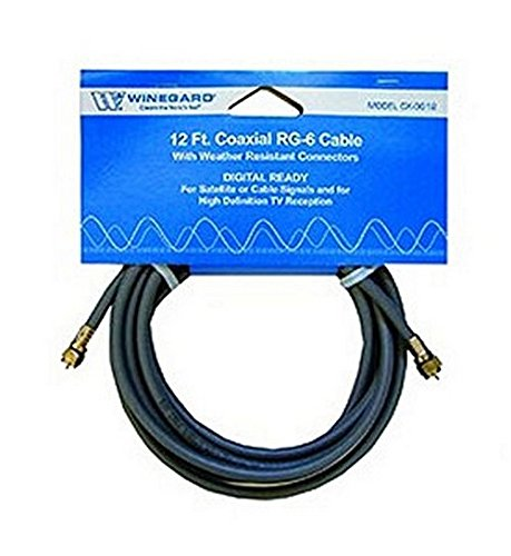 CX-0612 Winegard Audio/ Video Cable RG-6 Coaxial Cable With O-Ring