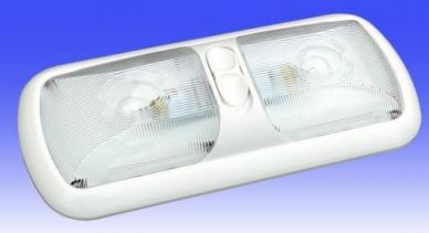 DIST-312-1 Thin-Lite Dome Light Clear Polycarbonate Lens