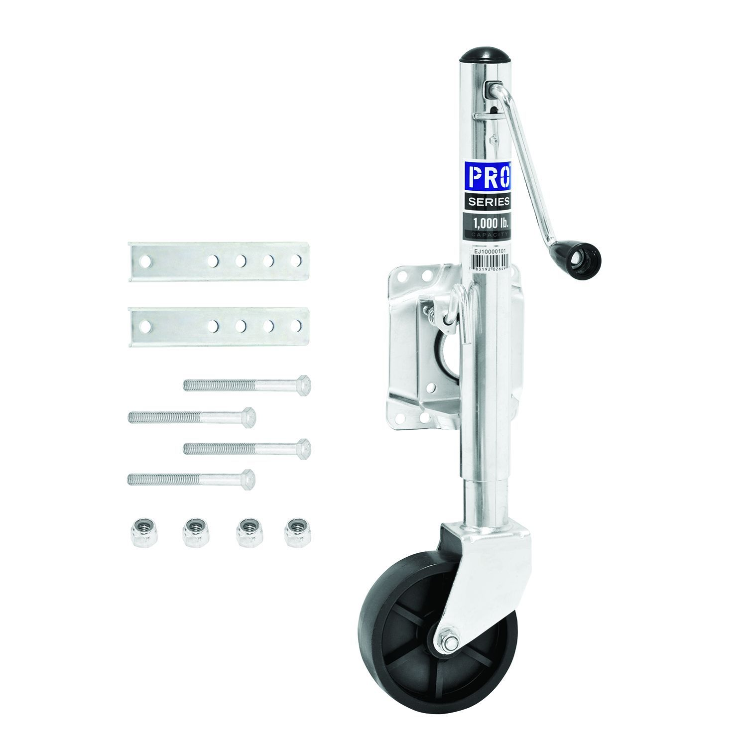 EJ10000101 Pro Series Hitch Trailer Tongue Jack Manual Swivel Trailer