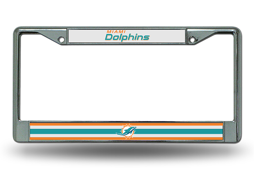 FC1104 PowerDecal License Plate Frame Miami Dolphins Name And Logo