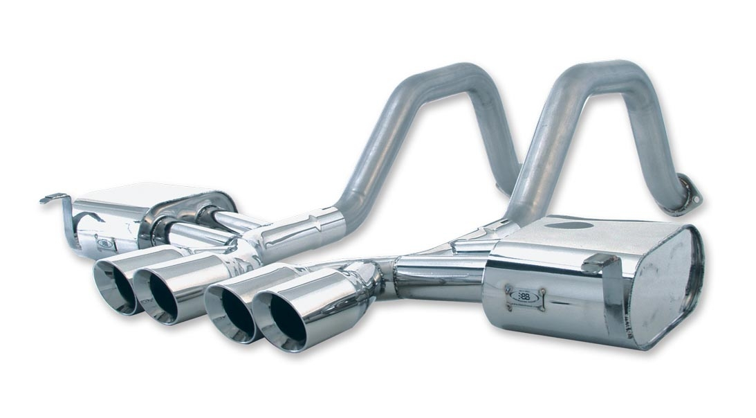 FCOR-0215 B&B Exhaust (Billy Boat) Exhaust System Kit Stainless Steel