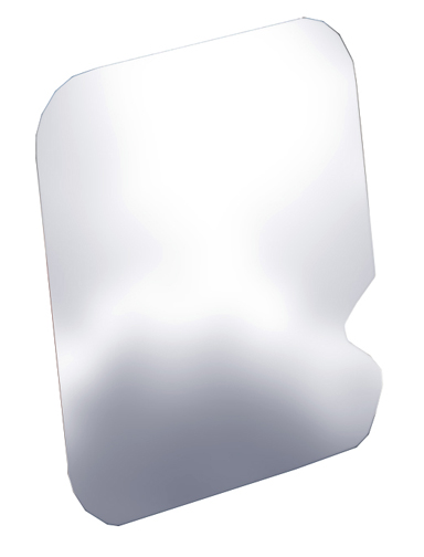 526202 Willmore MFG Fuel Door Cover Polished Stainless Steel