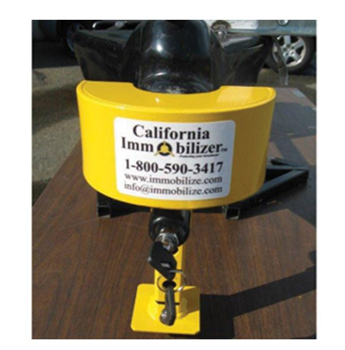 G00109 California Immobilizer Trailer Coupler Lock Pad Lock Type