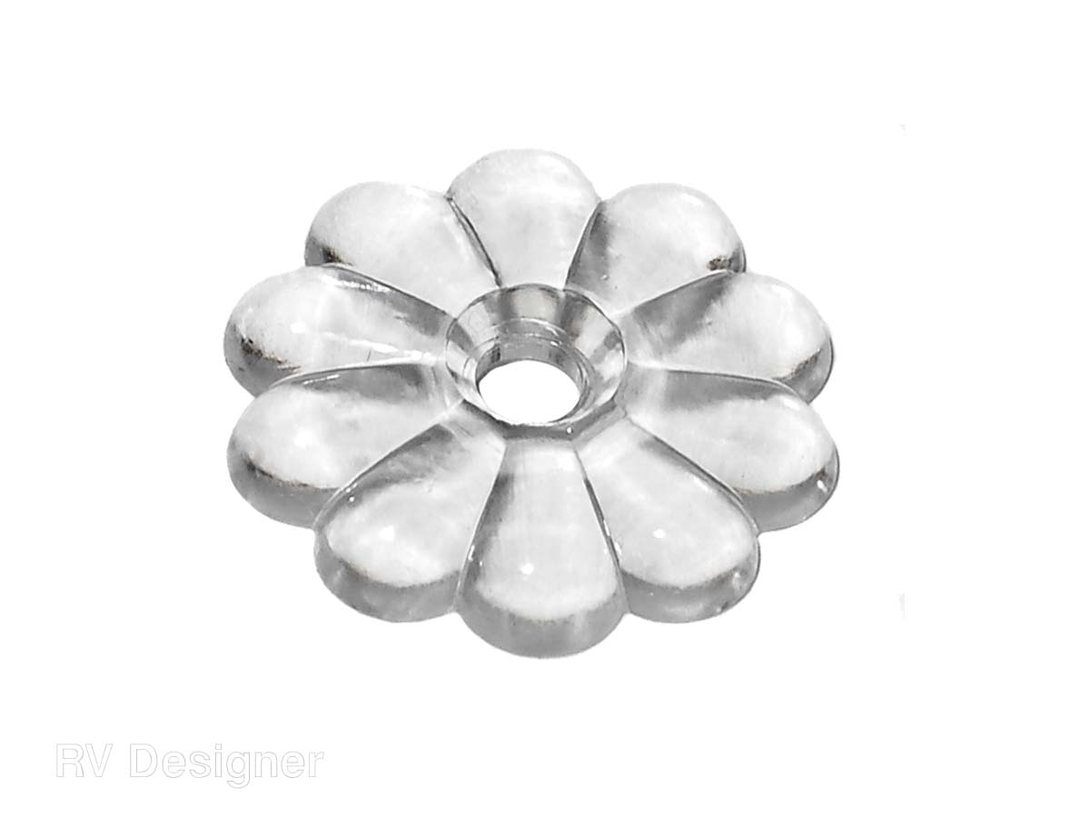 H611 RV Designer Screw Rosettes Clear