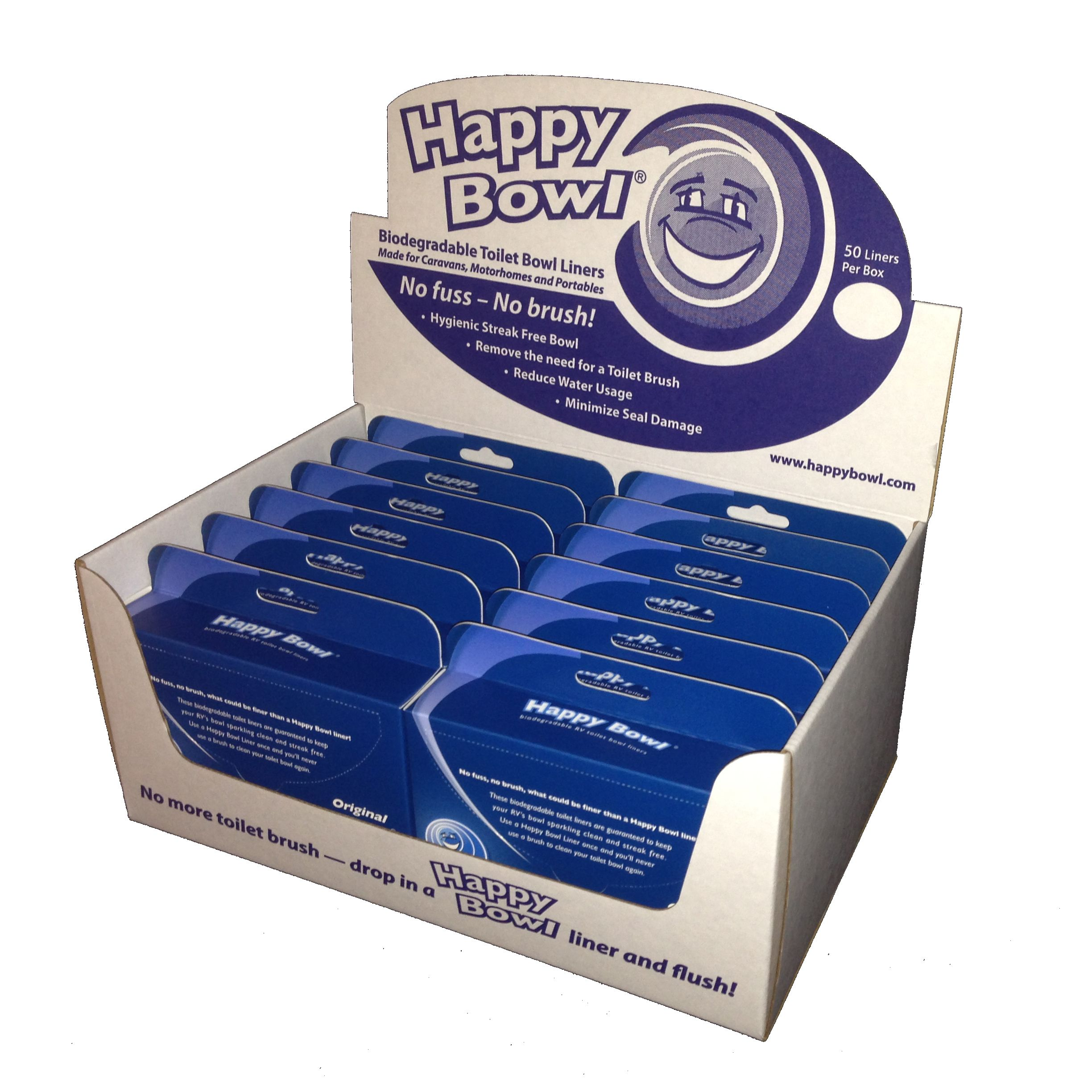 HB1212-POP Happy Bowl Point Of Purchase Display Toilet Bowl Liner