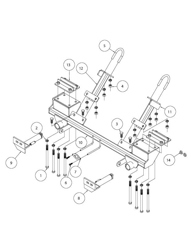 523179 4 Roadmaster Vehicle Baseplate Removable Tabs