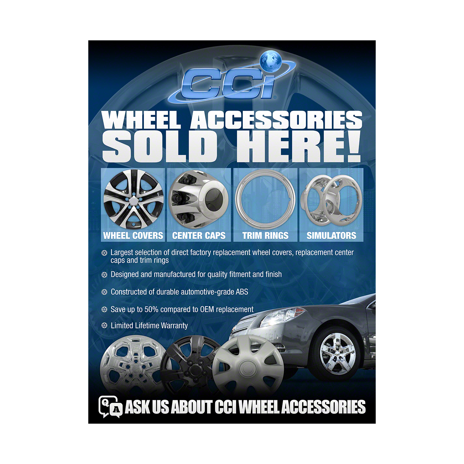HUBCAP Coast To Coast Poster CCI Wheel Covers