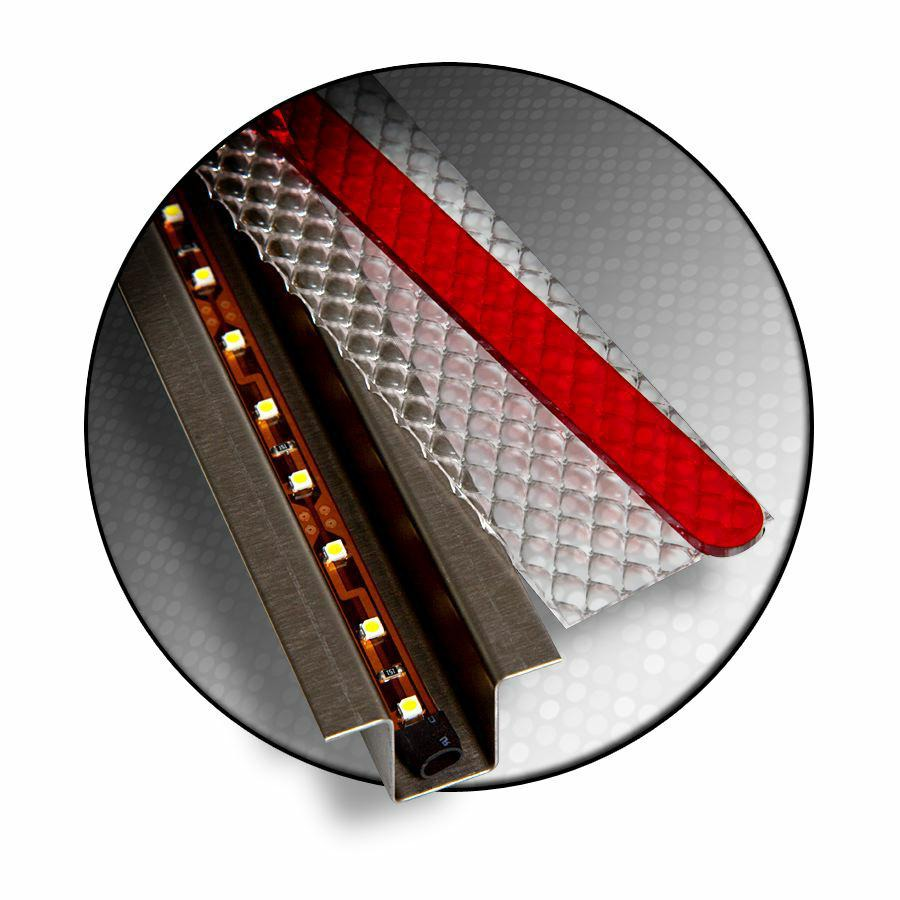 KICGHLF1A48X0 Keep it Clean Wiring Tail Light Assembly- LED Amber Lens