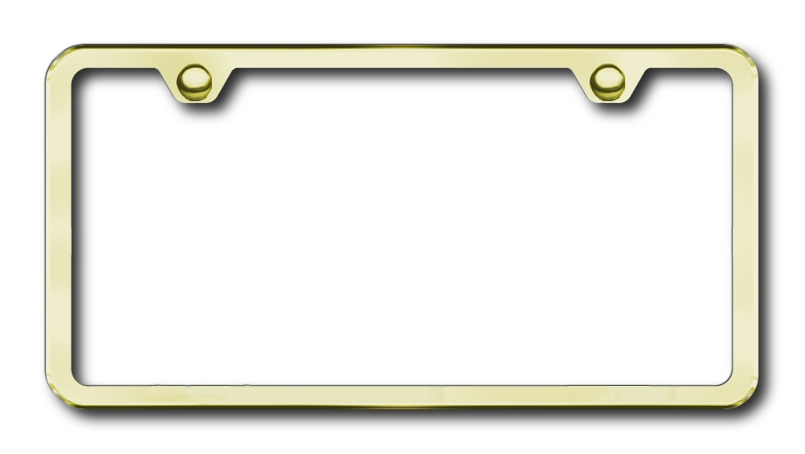 LF.449.G Automotive Gold License Plate Frame 2-Hole