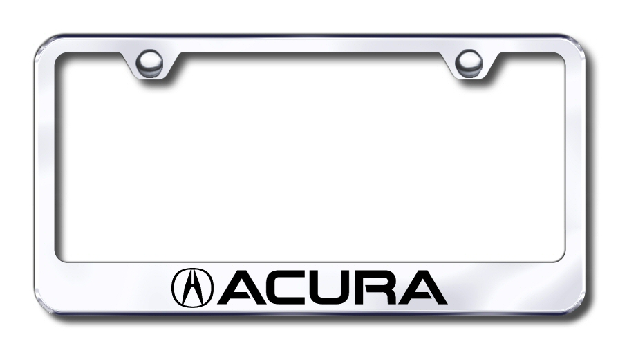 LF.ACU.EC Automotive Gold License Plate Frame Acura Factory Font