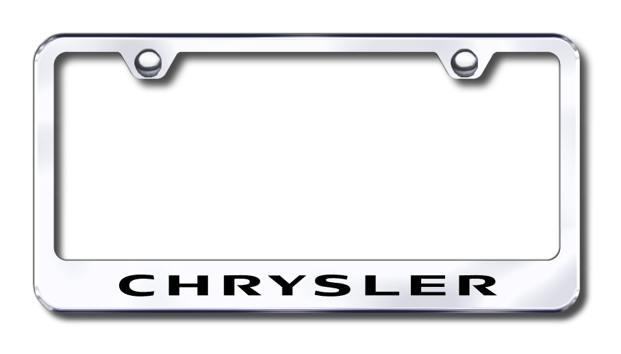 LF.CHR.EC Automotive Gold License Plate Frame Chrysler Factory Font