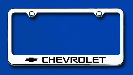 LF.CHV.EC Automotive Gold License Plate Frame Chevrolet Factory Font