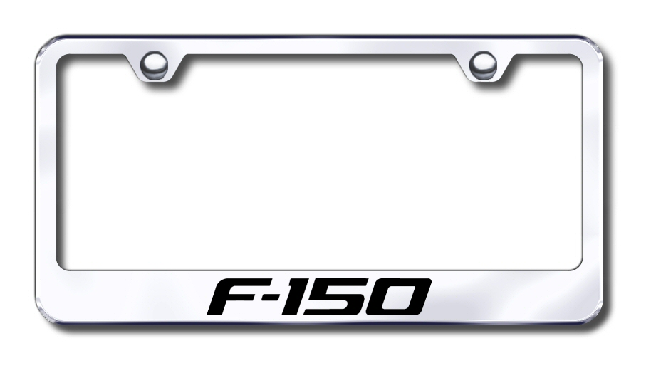 LF.F15.EC Automotive Gold License Plate Frame F-150 Factory Font