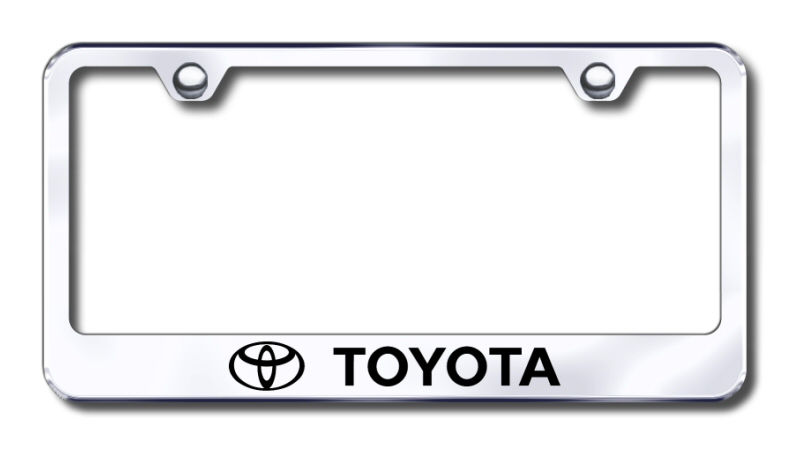 LF.TOY.EC Automotive Gold License Plate Frame Toyota Factory Font