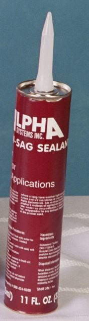 N101001T Alpha System Roof Sealant Used In Vertical Applications In