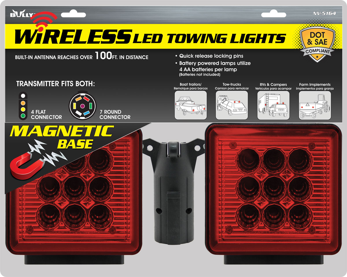 NV-5164 Bully Truck Accessory (Pilot) Tow Light Kit Includes Both 4