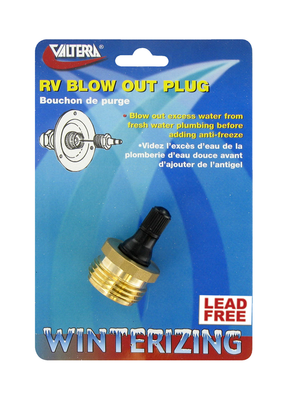 P23518LFVP Valterra Water System Blow Out Plug Attaches To Fresh